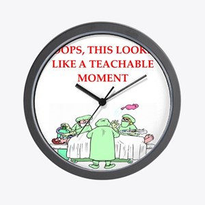 doctor joke Wall Clock