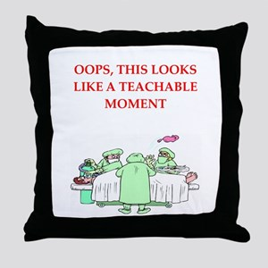 doctor joke Throw Pillow