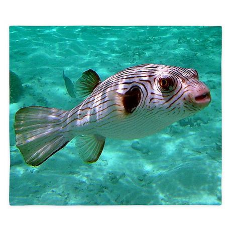 Striped Puffer Fish King Duvet