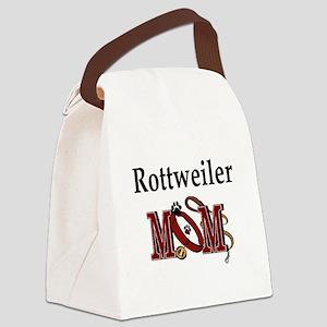 Rottweiler Mom Canvas Lunch Bag