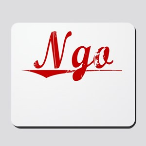 Ngo, Vintage Red Mousepad