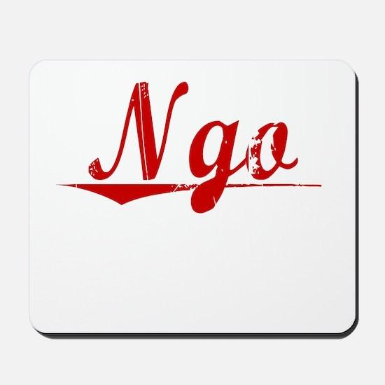 Ngo, Vintage Red Mousepad