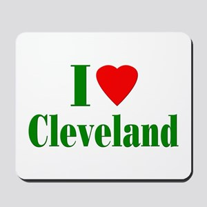 I Love Cleveland Mousepad