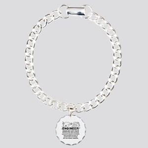 Funny Engineer Definitio Charm Bracelet, One Charm