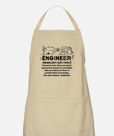 Funny Engineer Definition Light Apron