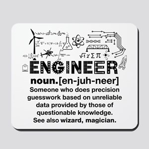 Funny Engineer Definition Mousepad