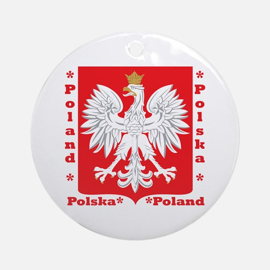 WB Polish Crest Ornament (Round)