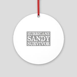 Hurricane Sandy Survivor Ornament (Round)