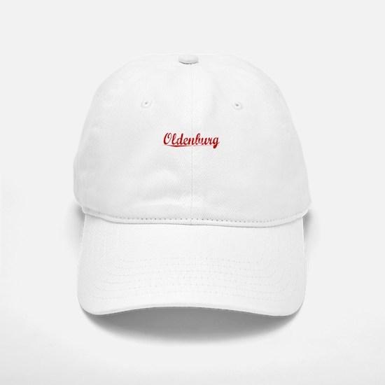 Oldenburg, Vintage Red Baseball Baseball Cap