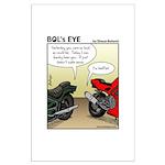 Bol's Eye Funny Poker/gambling 23x35 Large Pos