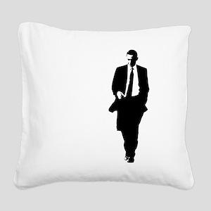 bigobama Square Canvas Pillow