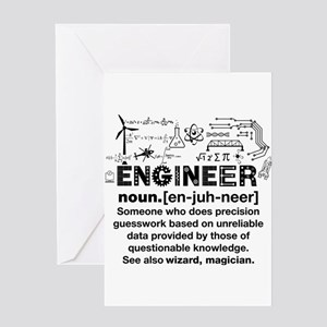 Funny Engineer Definition Greeting Cards