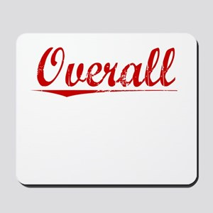 Overall, Vintage Red Mousepad