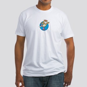 Kitty on Roller Skates Fitted T-Shirt