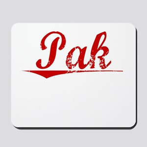 Pak, Vintage Red Mousepad