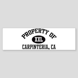 Property of CARPINTERIA Bumper Sticker