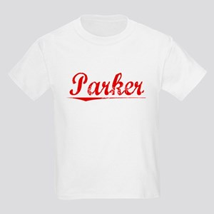 Parker, Vintage Red Kids Light T-Shirt