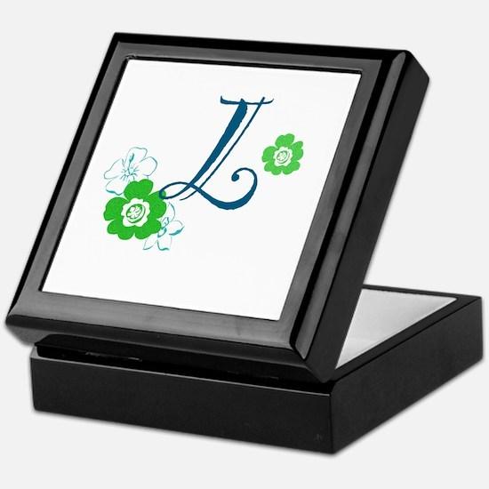 L Flowers Keepsake Box