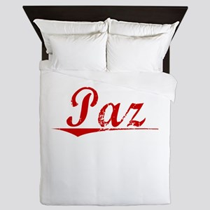 Paz, Vintage Red Queen Duvet
