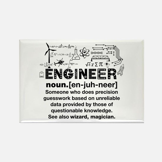 Funny Engineer Definition Magnets