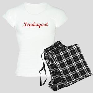 Pendergast, Vintage Red Women's Light Pajamas