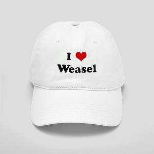 I Love Weasel Cap