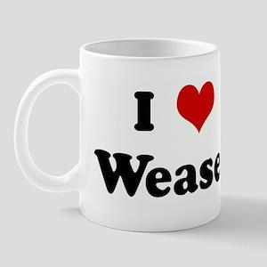 I Love Weasel Mug