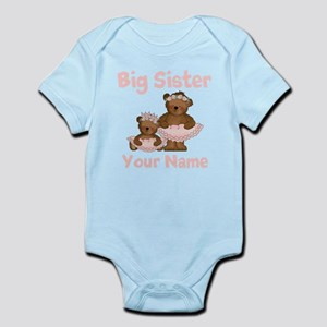 Big Sister Ballet Personalized Infant Bodysuit