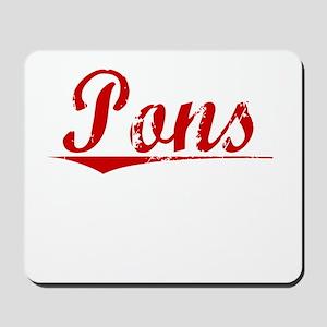 Pons, Vintage Red Mousepad