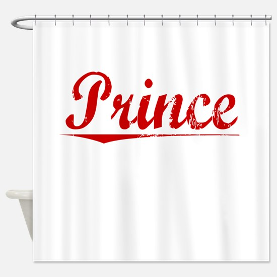 Prince, Vintage Red Shower Curtain