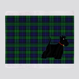 Scottish Terrier Tartan Throw Blanket