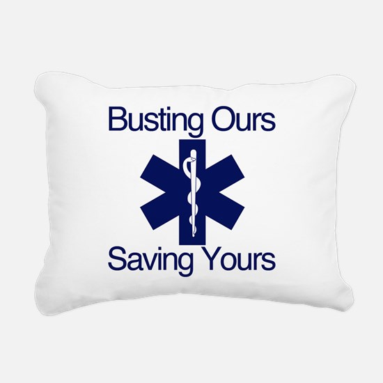 Busting Ours, Saving Yours Rectangular Canvas Pill