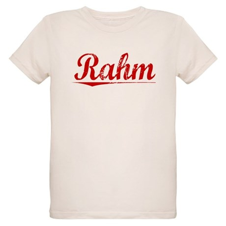 Rahm, Vintage Red Organic Kids T-Shirt