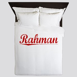 Rahman, Vintage Red Queen Duvet