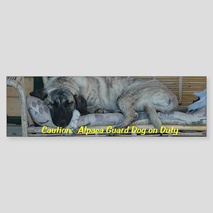 Alpaca guard dog Bumper Sticker