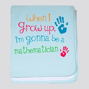 Kids Future Mathematician baby blanket