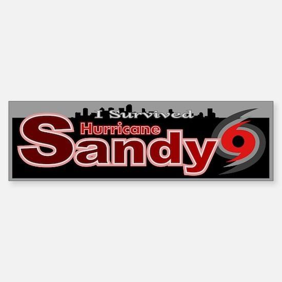 Hurricane Sandy Survived Sticker (Bumper)