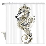 Paisley Seahorse Shower Curtain