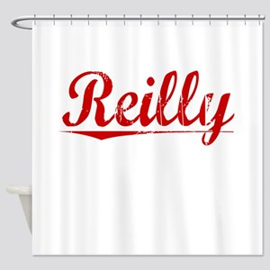 Reilly, Vintage Red Shower Curtain