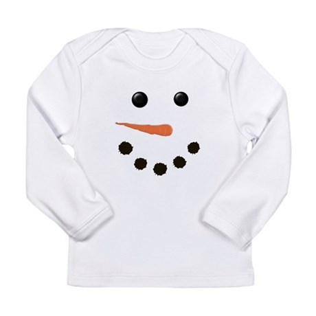 Cute Snowman Face Long Sleeve Infant T-Shirt