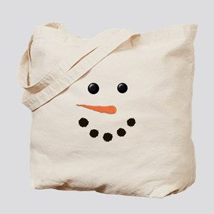 Cute Snowman Face Tote Bag
