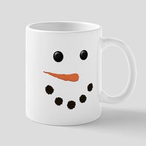 Cute Snowman Face Mug