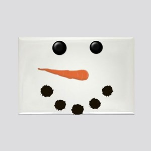 Cute Snowman Face Rectangle Magnet