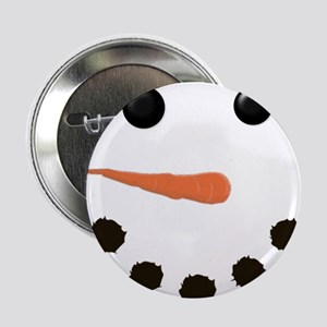 "Cute Snowman Face 2.25"" Button"