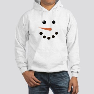 Cute Snowman Face Hooded Sweatshirt