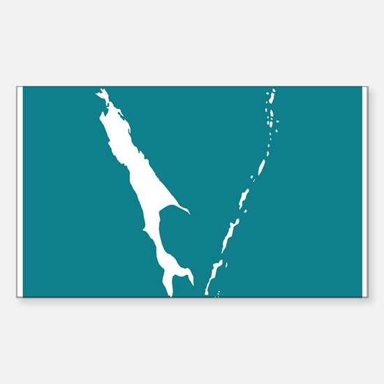 Sakhalin Flag Rectangle Decal