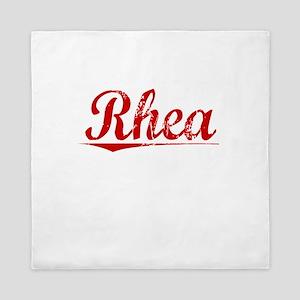 Rhea, Vintage Red Queen Duvet