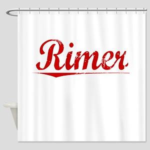 Rimer, Vintage Red Shower Curtain