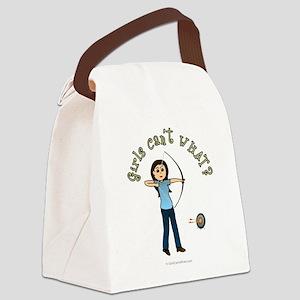 archery-blue-light2 Canvas Lunch Bag