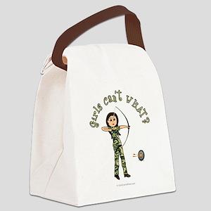 archery-camo-light2 Canvas Lunch Bag